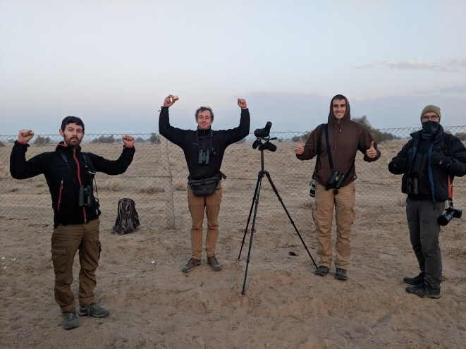 Right after seeing the bustard!