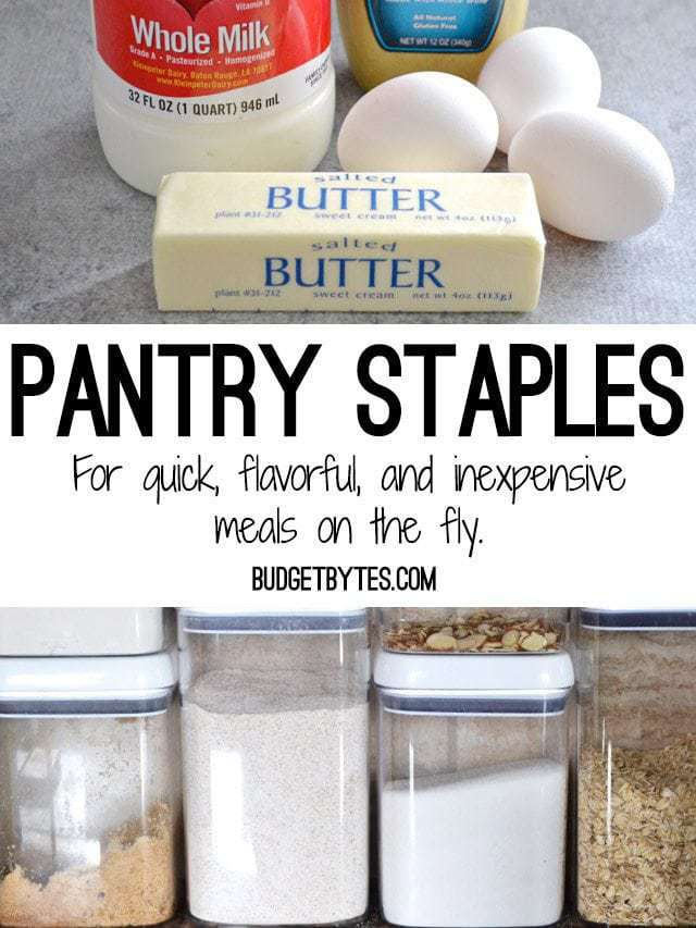 Stock Your Kitchen Pantry Staples  Budget Bytes