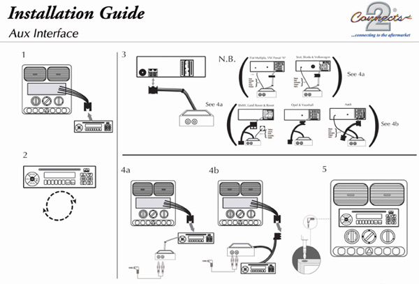 auxiliary cable wiring diagram