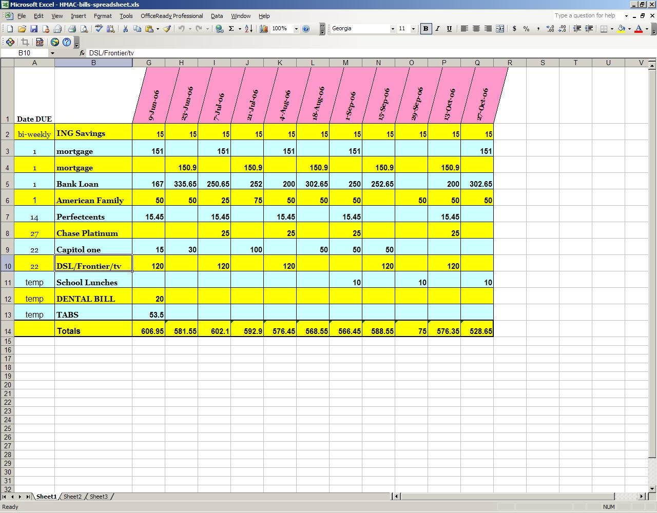Search Results For Free Monthly Bill Organizer