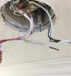 in this case the original installer neglected to twist the wires before adding the smoke detector whip the white wire the neutral became disconnected  [ 1080 x 810 Pixel ]