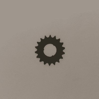 Tandwiel grijs