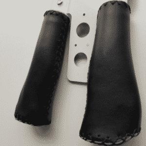 Handvatten set zwart echt leer