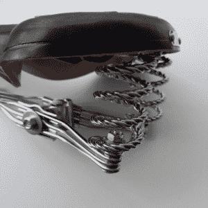 Tabor vintage leren fietszadel zwart