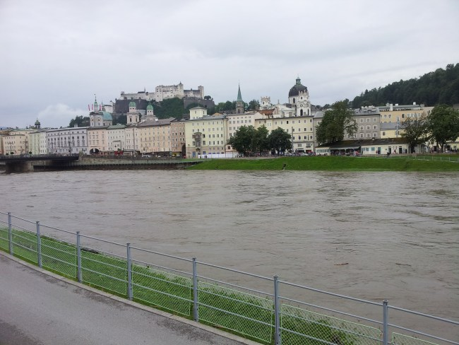 SALZBURG FROM THE RIVER