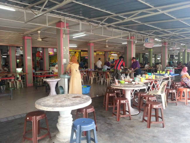 ENTRANCE TO EATERY STALLS