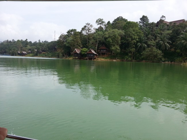 LAKE KENYIR RESORT FROM THE LAKE