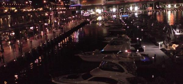 CICULAR QUAY AT NIGHT