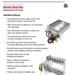 Tempstar Wiring Diagram Furnace 4 Ohm Dual Voice Coil 10 Kw Heat Strip For Arcoaire Air Handlers Eb P X V Wa