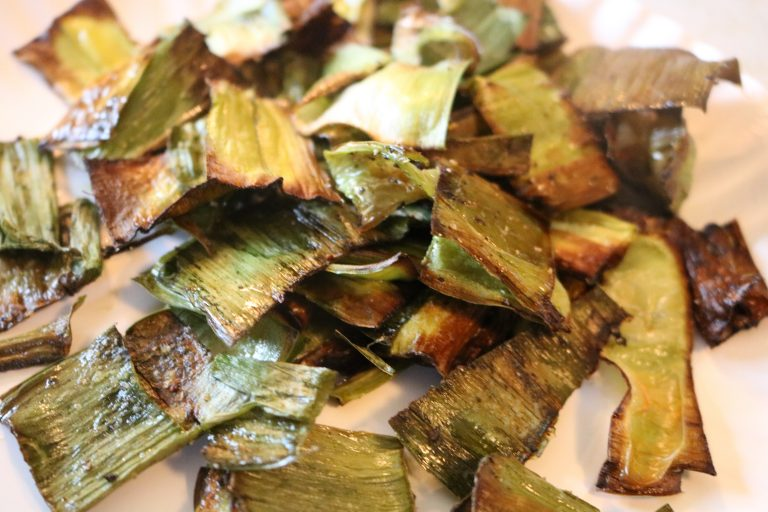 whole30 leek chips