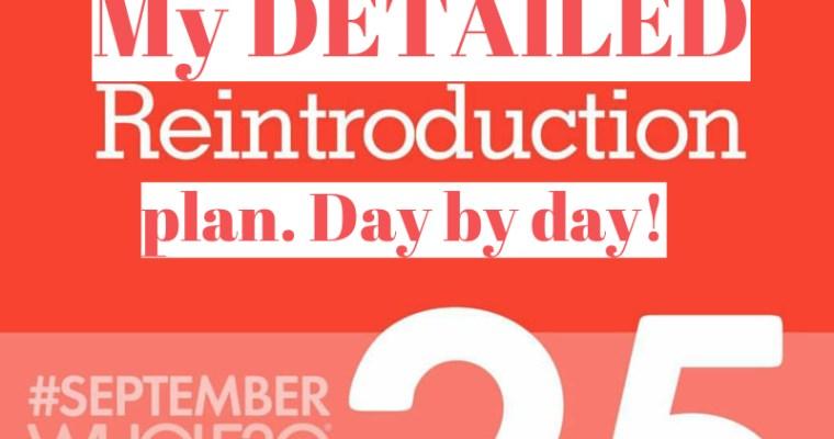 My Whole30 Reintroduction Plan #SeptemberWhole30