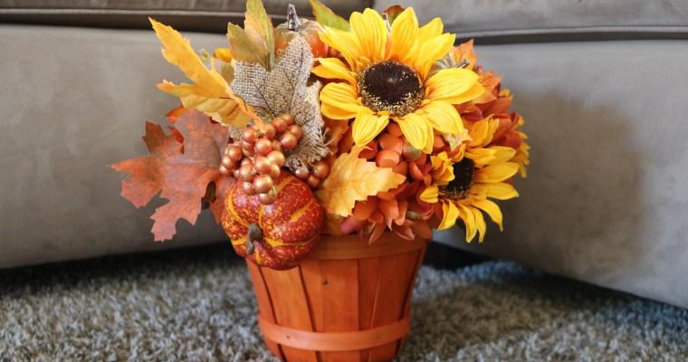 DIY Fall Centerpiece (Under $20!)
