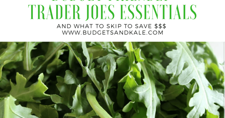 Budget Friendly Trader Joe's Essentials (and What to Skip!) 2018
