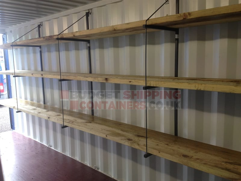 Shipping Container Shelf Brackets