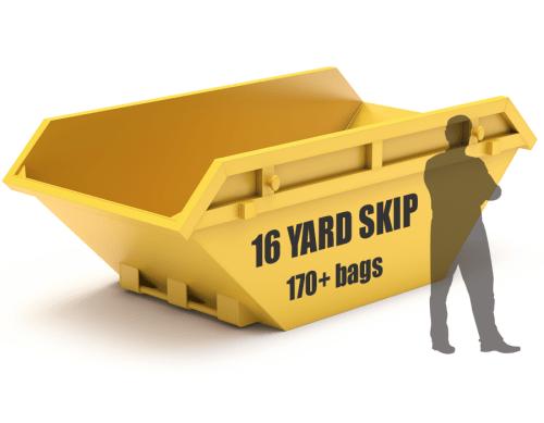 16 yard skip hire size