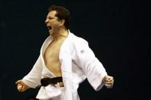 27/10/2011 - Guadalajara, México - XVI Jogos Pan-americanos - Judô - Na foto, o atleta Tiago Camilo comemorando a conquista da medalha de ouro, logo após o combate contra o cubano Asley Gonzalez, no Ginásio CODE II.
