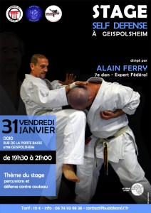 Stage Self Défense avec Alain Ferry 7e Dan @ Dojo | Geispolsheim | Grand Est | France