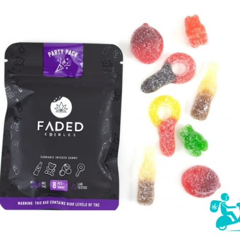 Party Pack Faded Edible Gummies