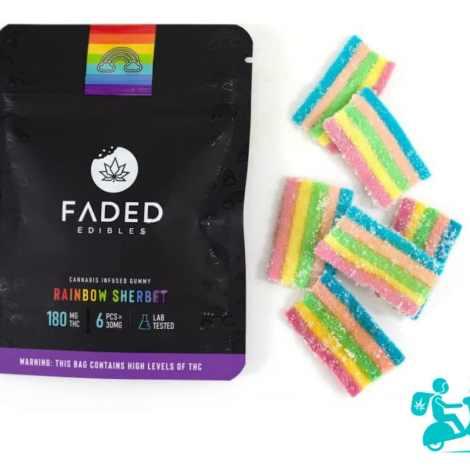 Rainbow Sherbet Faded Edible Gummies