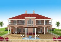 Mediterranean Homes Rear Elevations