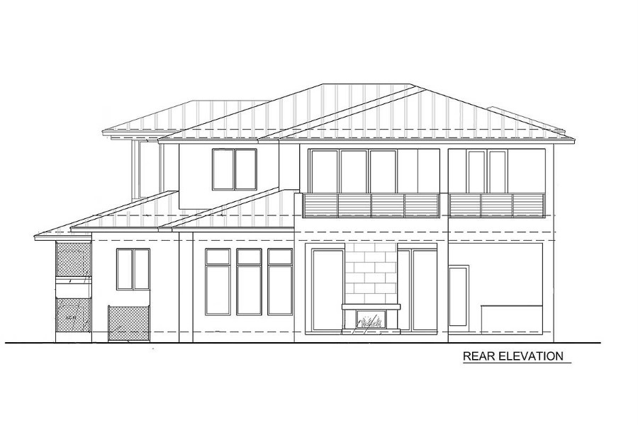 Upscale Contemporary With Multiple Second Floor Balconies
