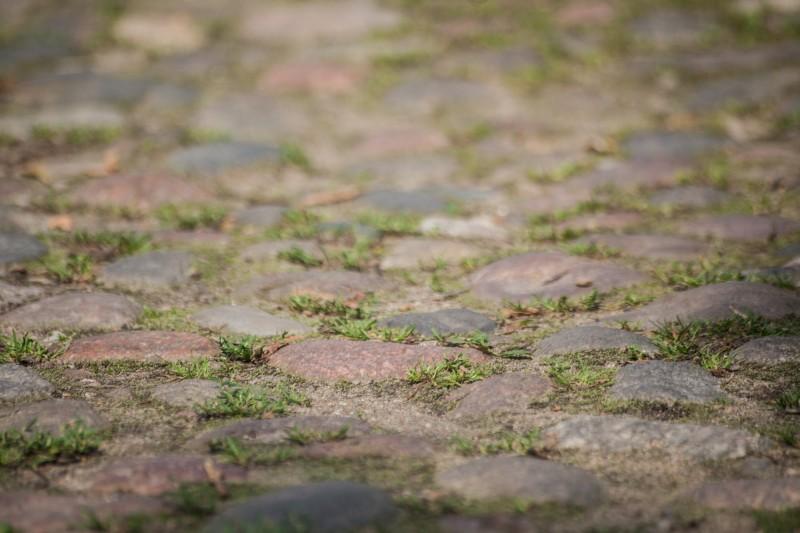 3. Брукаваны пас на вуліцы Міра ў занёманскай частцы горада (2)