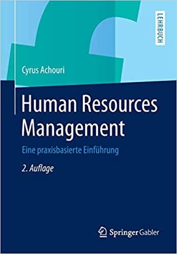 Achouri, Cyrus - Human Resources Management - Eine praxisbasierte Einführung