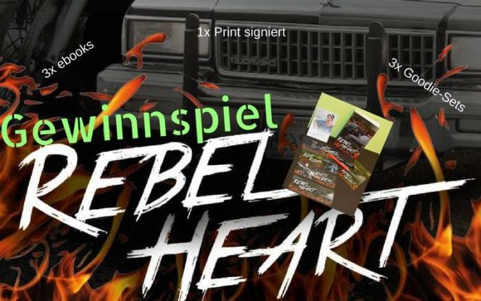 Gewinnspiel zu Bjuchexpedition REBEL HEART von Susan B. Hunt