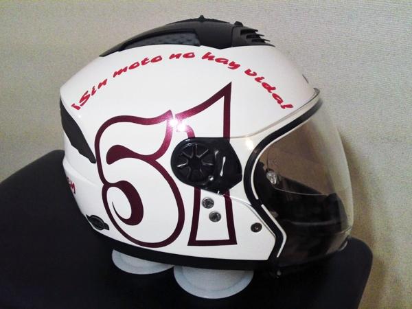 オリジナルヘルメットデカール