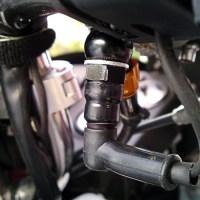 フロントブレーキ油圧式スイッチ破損