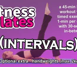Fitness Pilates (intervals) - Full Workout