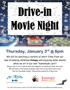 Drive-in Movie Night @ Buena Vista Public Library | Buena Vista | Colorado | United States