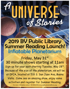 Summer Reading Launch! @ DPCA | Buena Vista | Colorado | United States