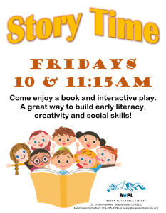 Story Time - 11:15 AM @ Buena Vista Public Library | Buena Vista | Colorado | United States