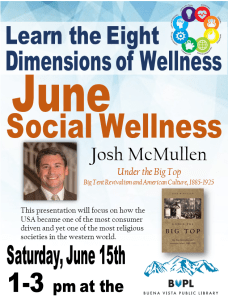 Eight Dimensions of Wellness: Learn about Social Wellness in June! @ Buena Vista Public Library | Buena Vista | Colorado | United States