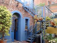 back patio apartment in historic san telmo house