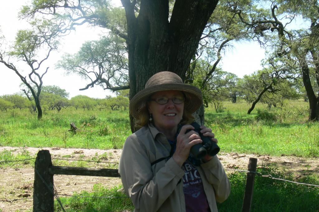 Cinda, from Texas, birding in Ceibas, January 2018.