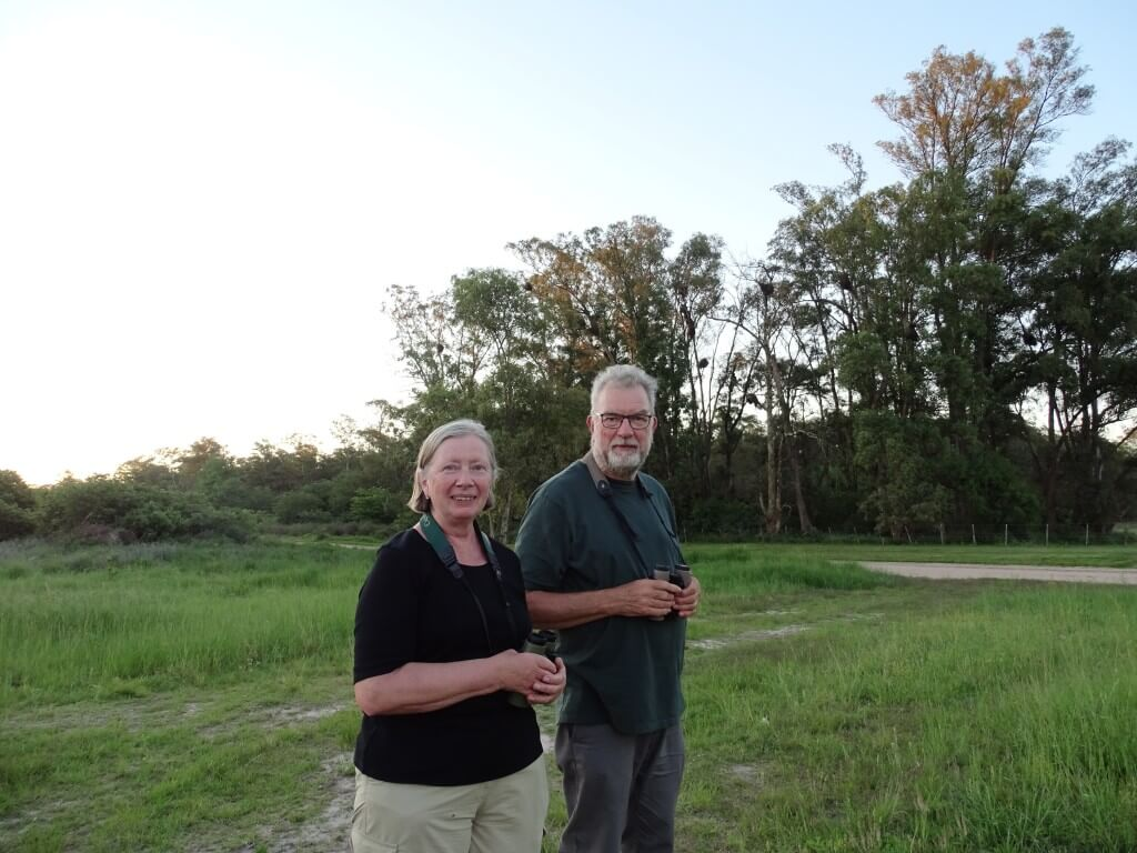 Ed and Marge birding at Gualeguay, October 2018.