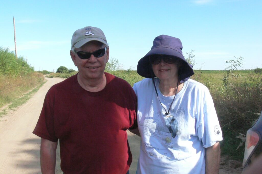 Phil and Judy, birding at Ceibas in a sunny day, February 2018.