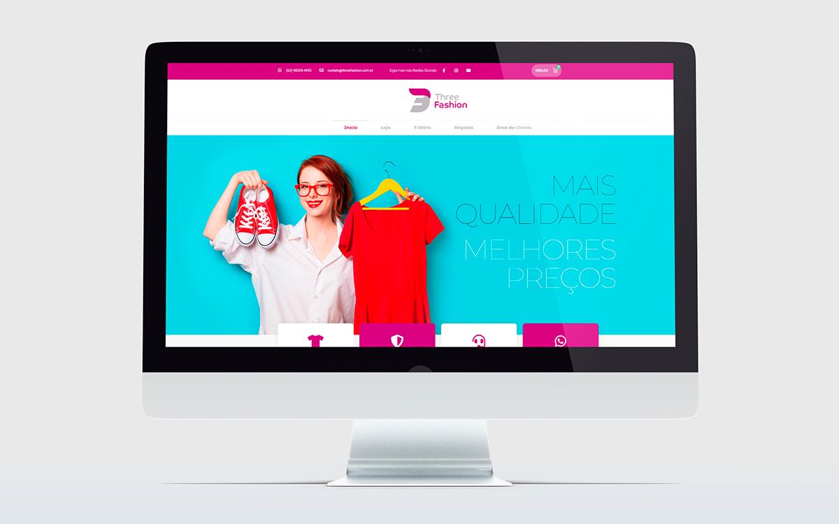 crição de sites wordpress - portfolio - Three Fashion - Buenosites