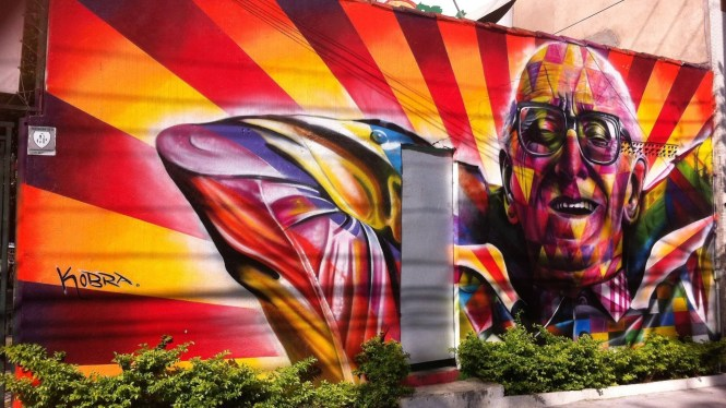 Kobra oeuvre Street Art Sao Paulo