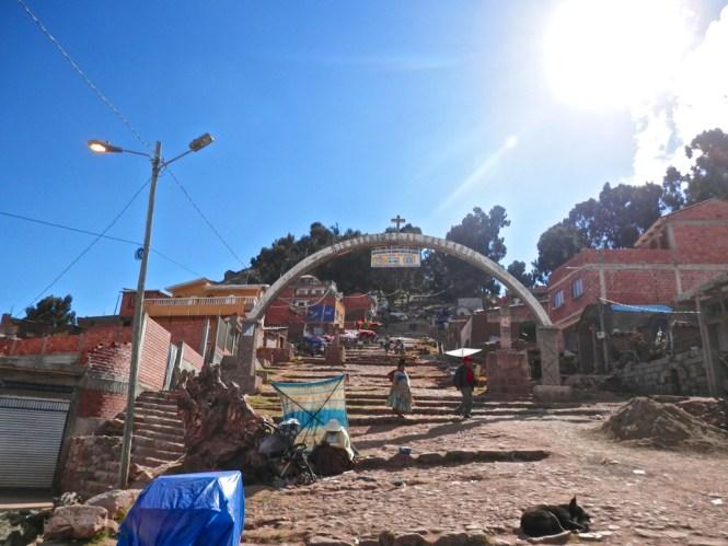 Copacabana sur le Lac Titicaca calvario