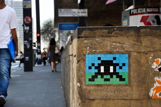 space-invaders MASP Street Art Sao Paulo