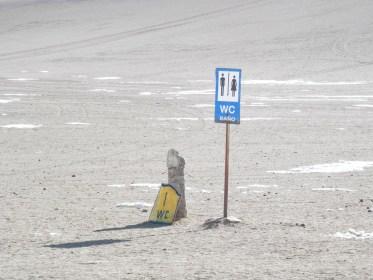 toilettes Désert de Dali visiter salar d'uyuni en bolivie