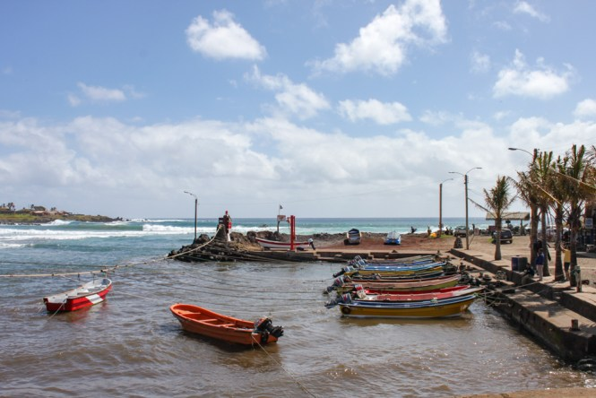 bateau port Hanga roa visiter Île de Pâques