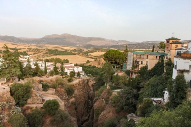 visiter Ronda en andalousie vue province