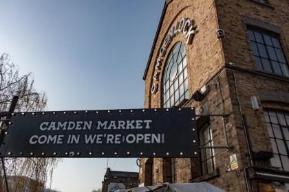 entrée Camden Market Un week end a Londres