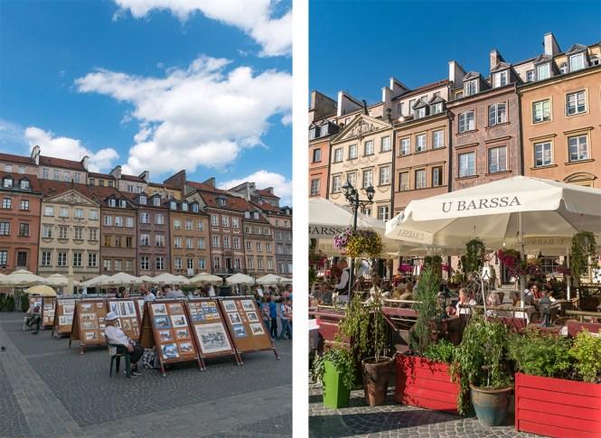 Visiter Varsovie Rynek Starego Miasta place