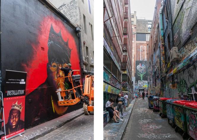 Que faire à Melbourne hosier lane