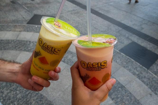 oasis juice visiter brisbane